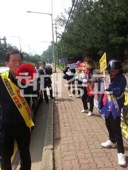 기쁜소식강남교회, 신도 폭행과 시위 방해